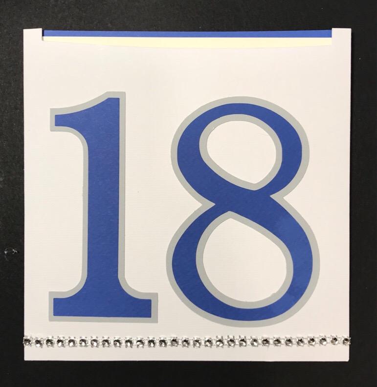 Biglietti di auguri di compleanno 18 anni personalizzato cartoleria Al14 Milano