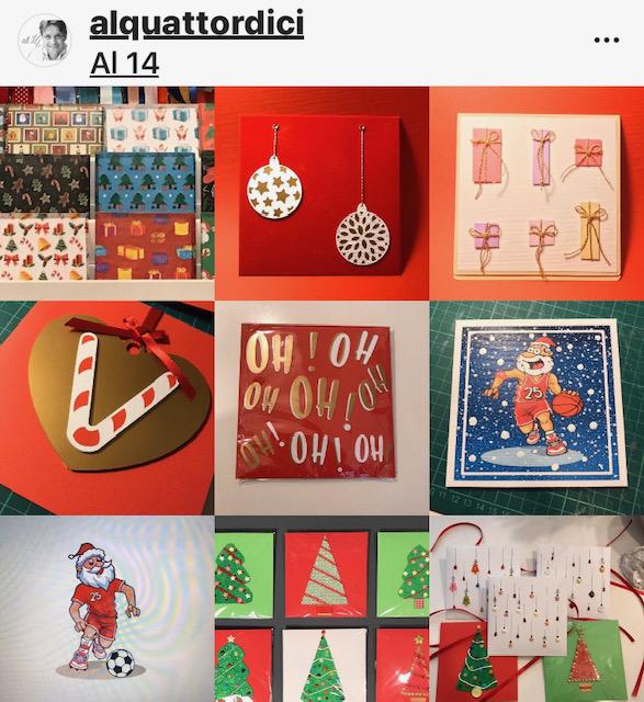 Biglietti natalizi personalizzati Al 14