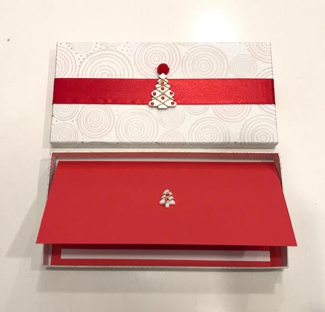 Biglietti scatola personalizzati natalizi Al 14 Milano
